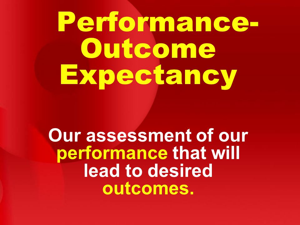 Performance-Outcome Expectancy