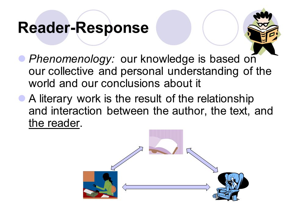 Reader-Response Phenomenology: our knowledge is based on our collective and personal understanding of the world and our conclusions about it.