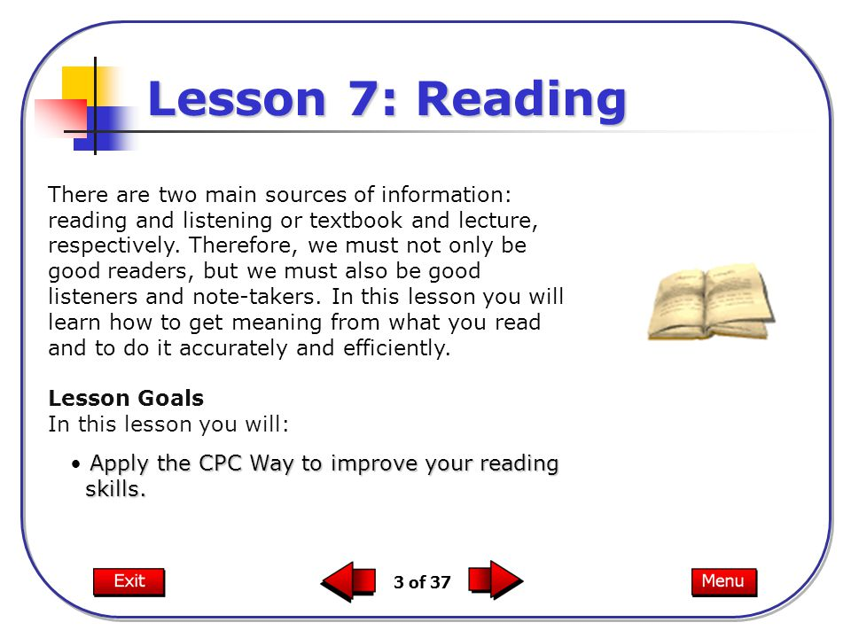Lesson 7: Reading