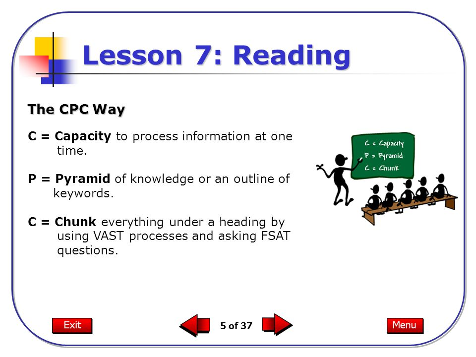 Lesson 7: Reading The CPC Way
