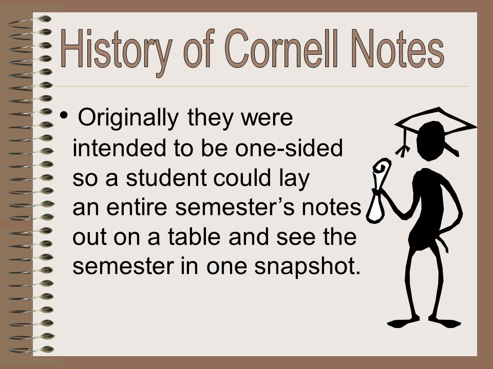 History of Cornell Notes