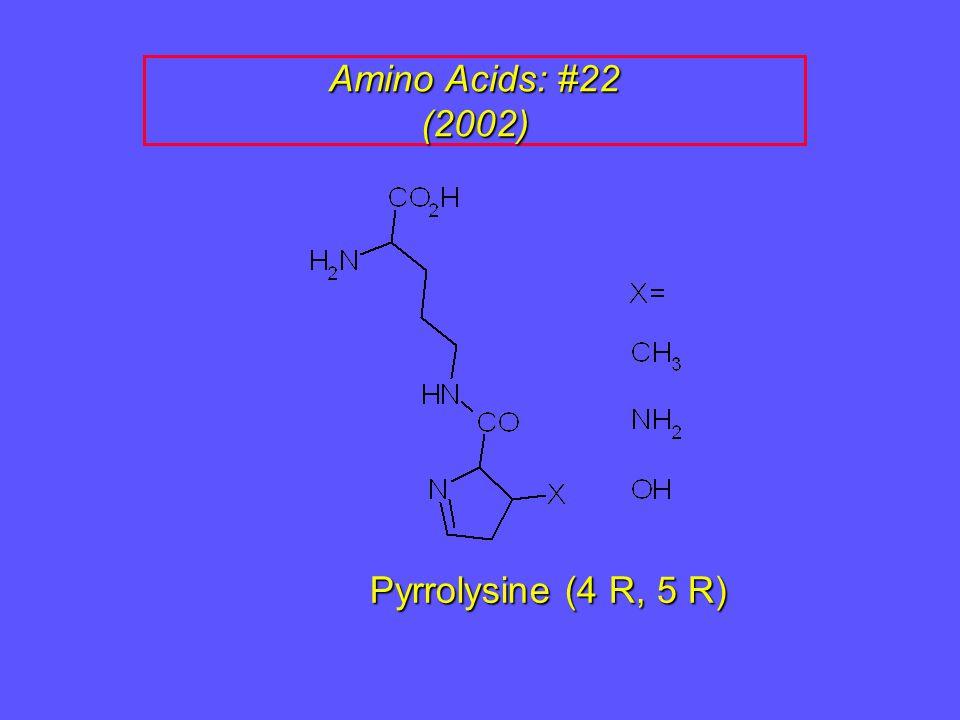 Amino Acids: #22 (2002) Pyrrolysine (4 R, 5 R)