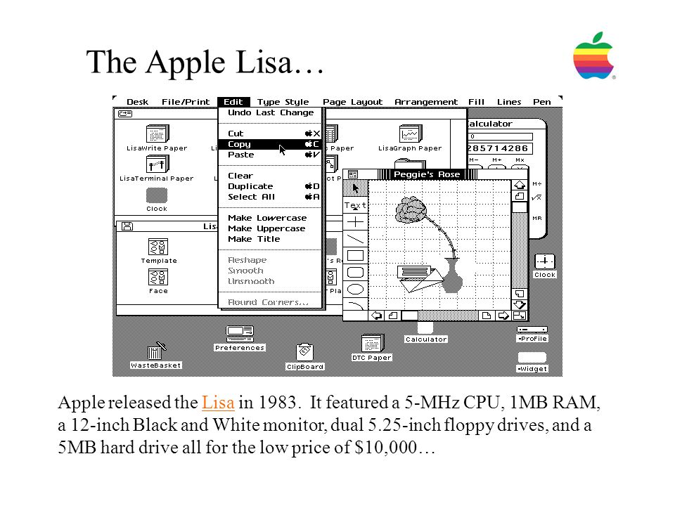 The Apple Lisa…