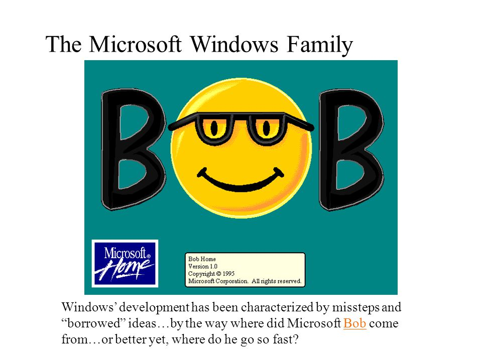 The Microsoft Windows Family