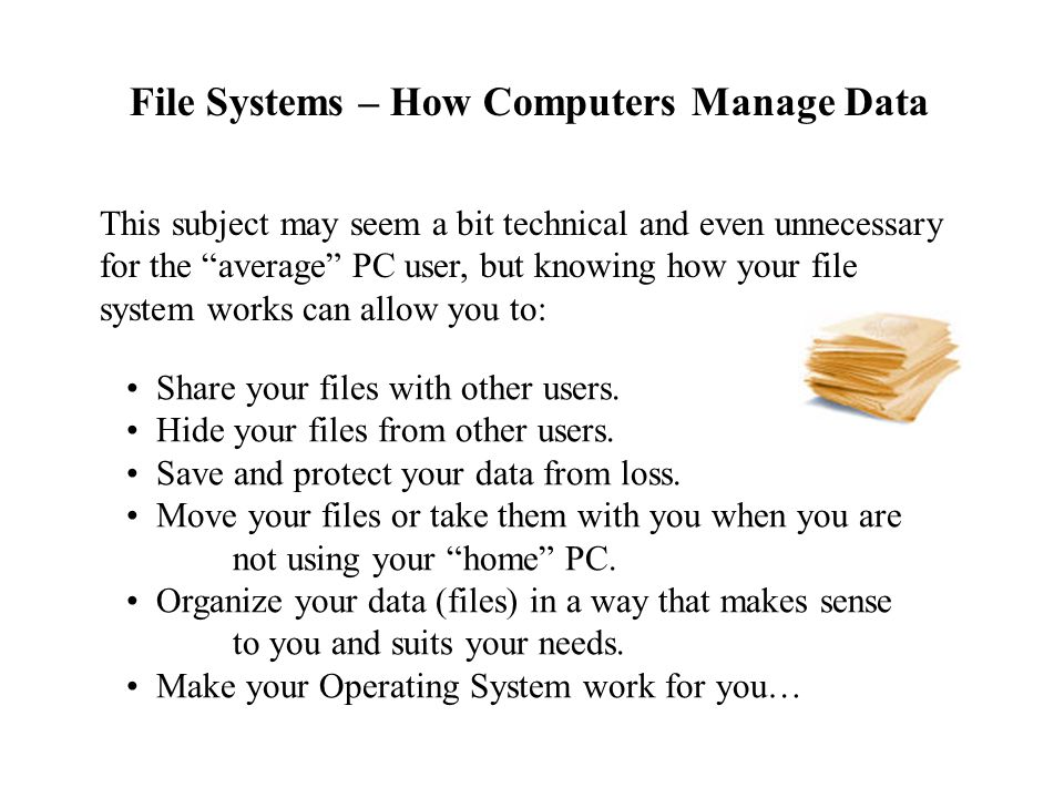 File Systems – How Computers Manage Data