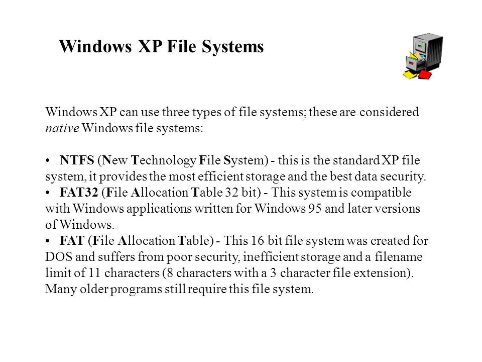 Windows XP File Systems