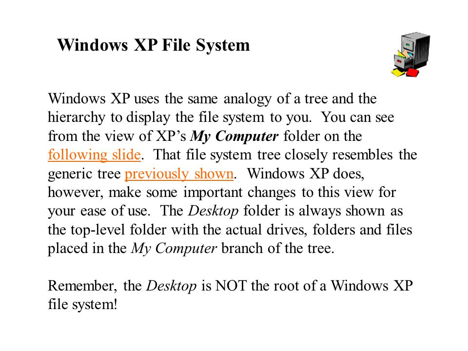 Windows XP File System