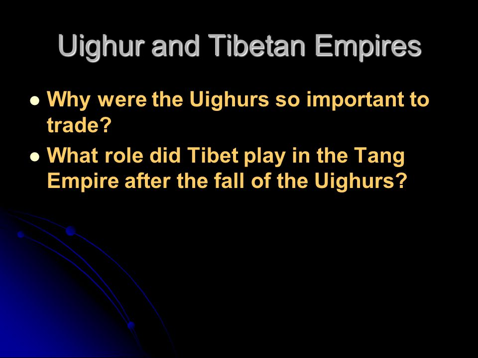 Uighur and Tibetan Empires