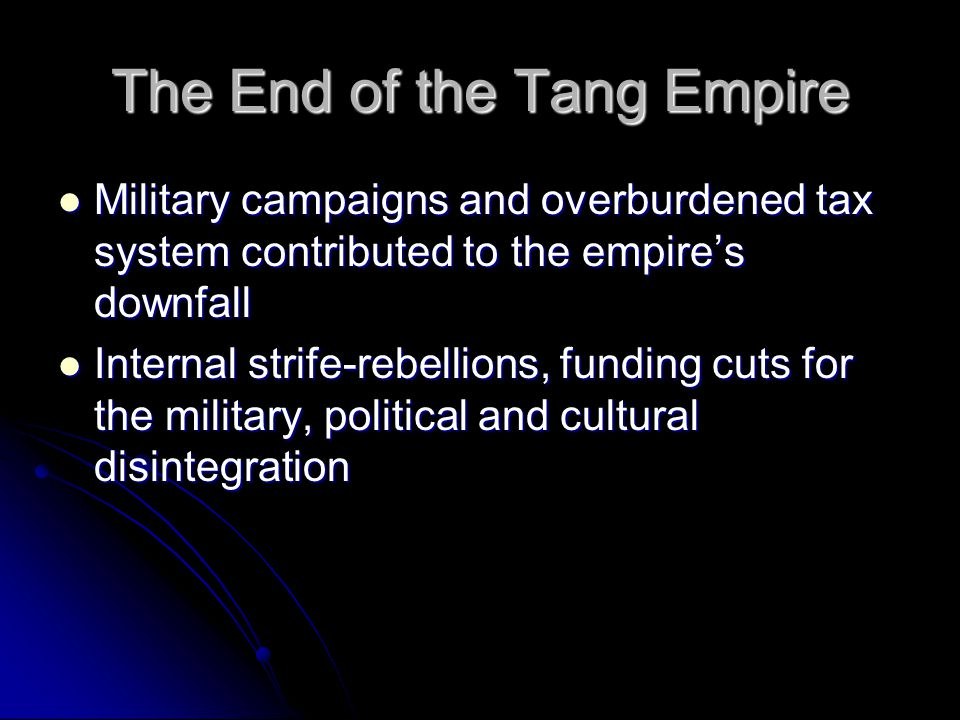The End of the Tang Empire