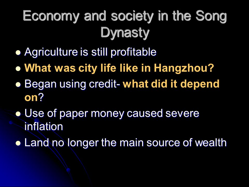 Economy and society in the Song Dynasty
