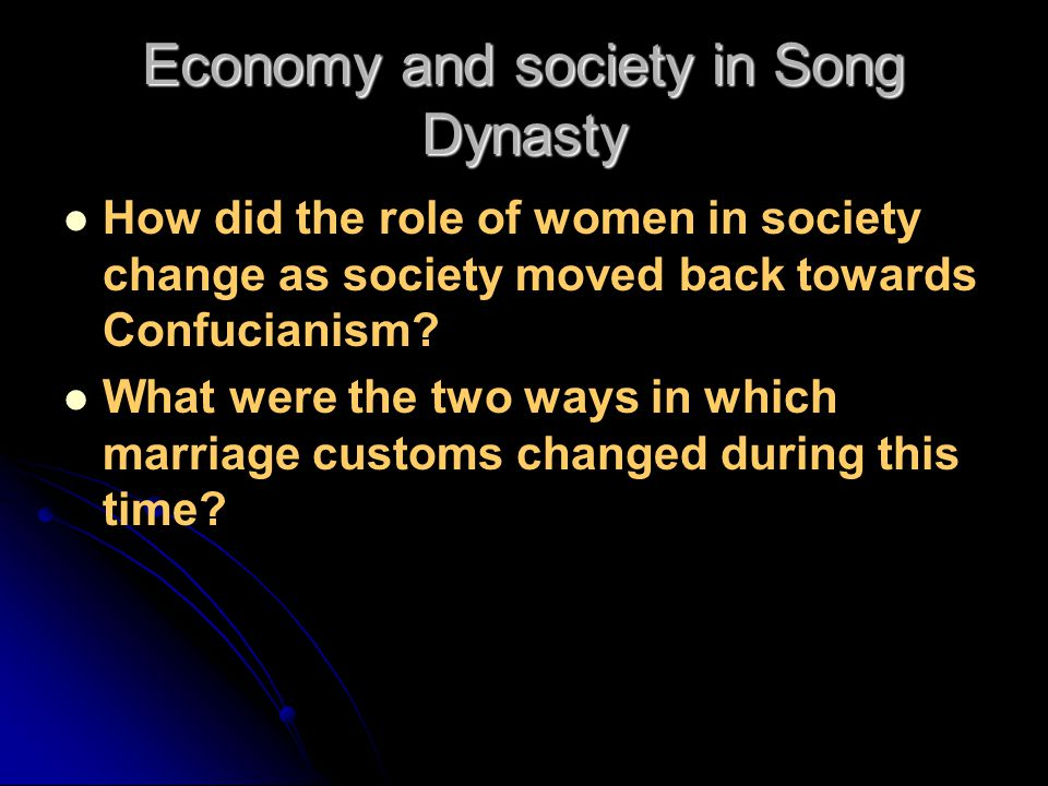 Economy and society in Song Dynasty