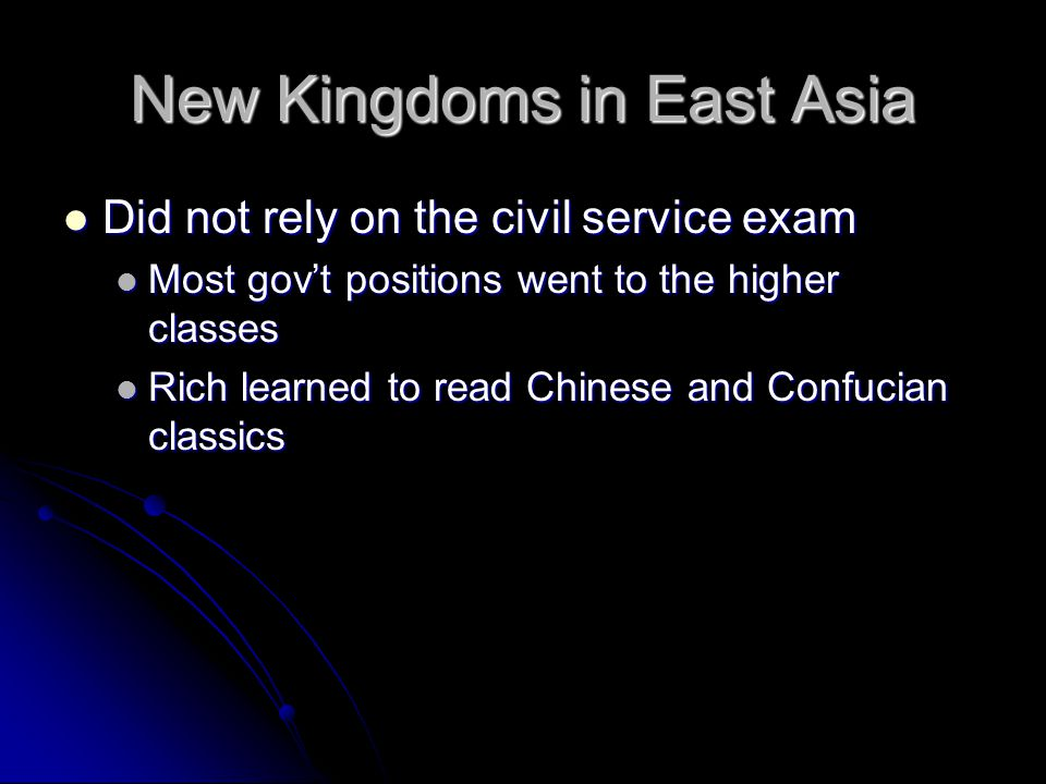 New Kingdoms in East Asia