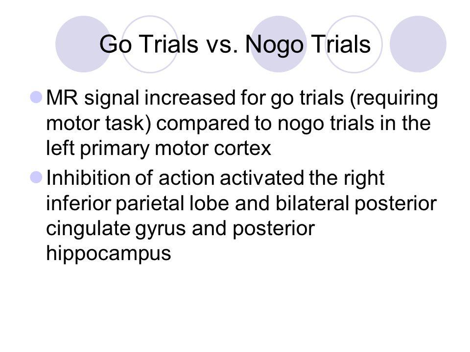 Go Trials vs. Nogo Trials