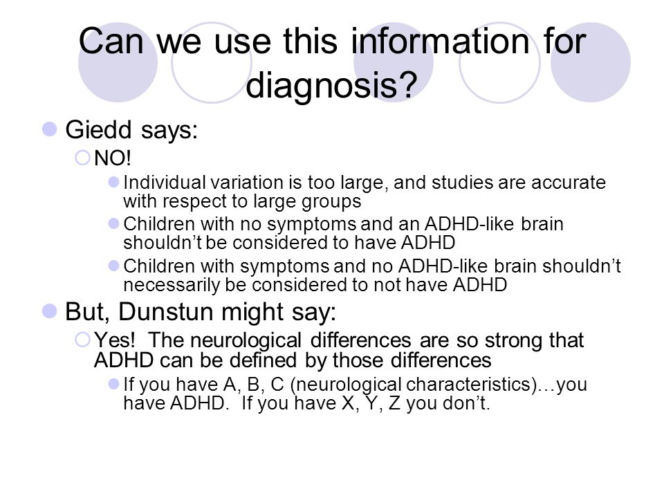 Can we use this information for diagnosis