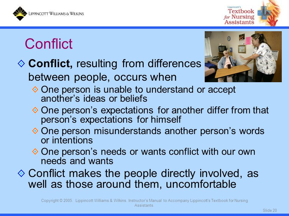 Conflict Conflict, resulting from differences