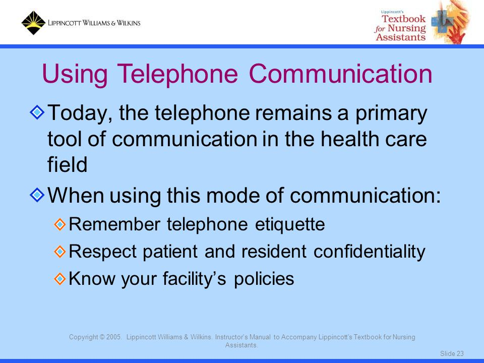 Using Telephone Communication