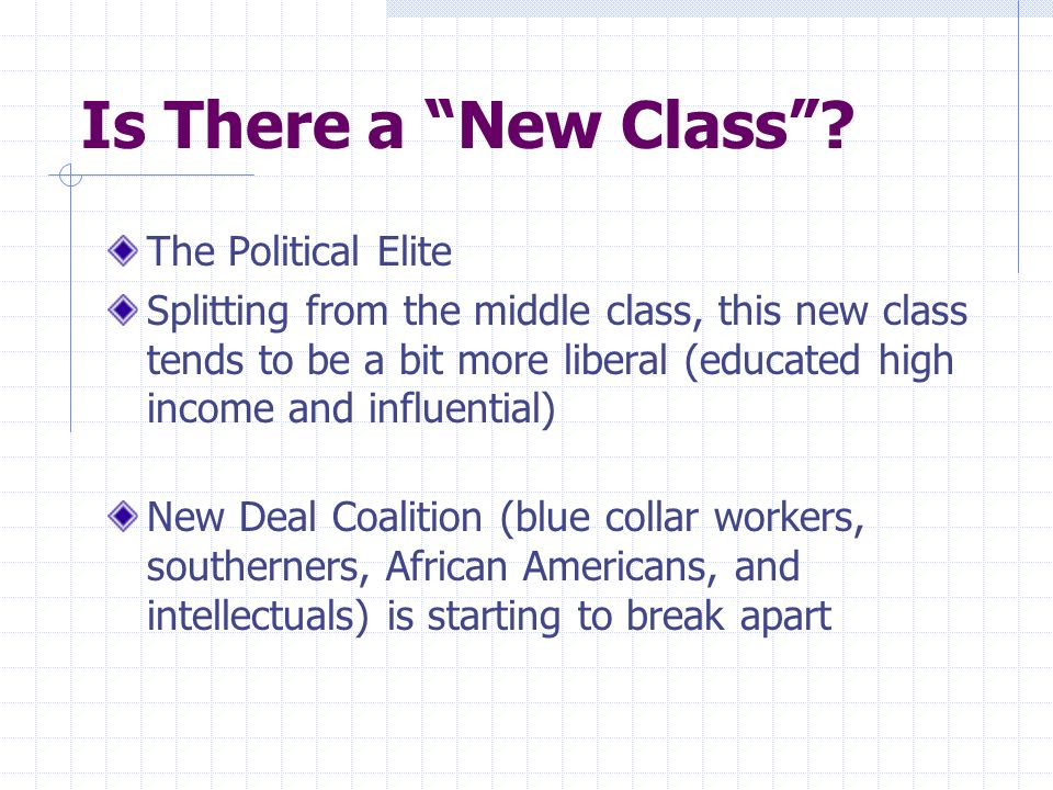 Is There a New Class The Political Elite