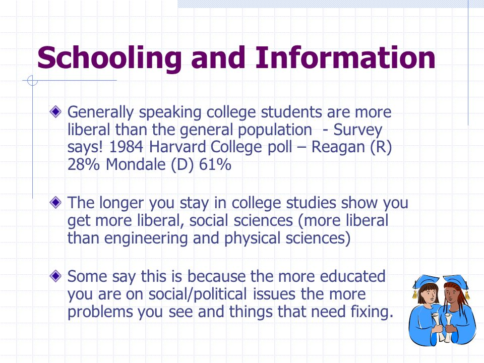 Schooling and Information