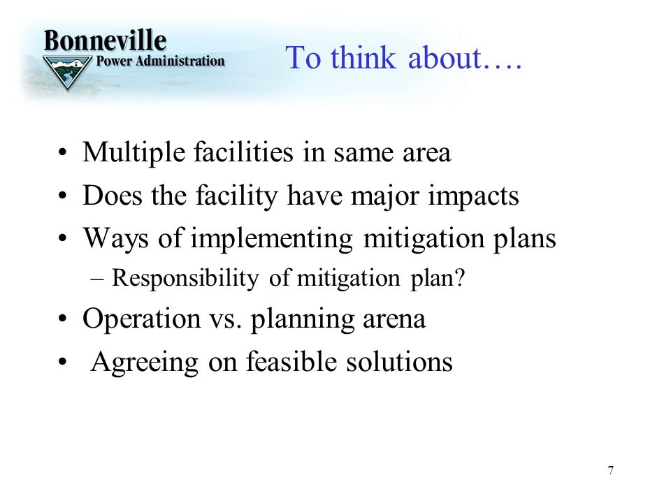 To think about…. Multiple facilities in same area