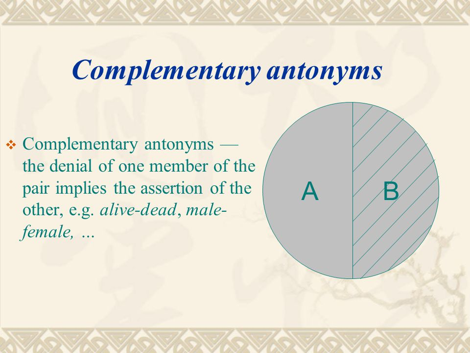 Complementary antonyms