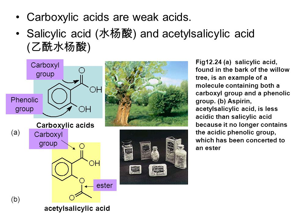 Carboxylic acids are weak acids.