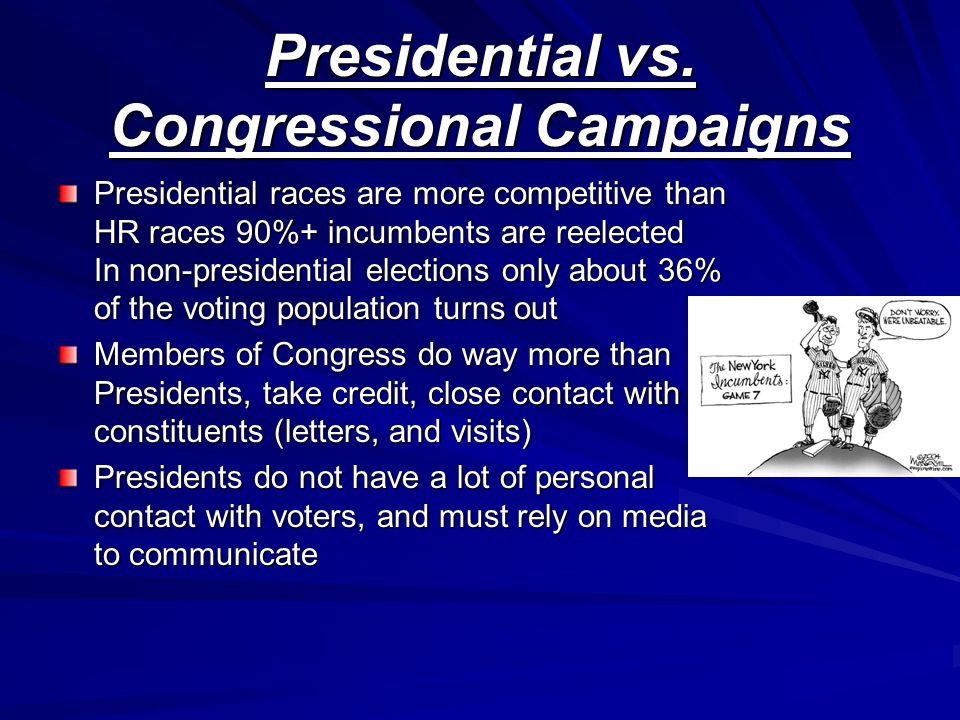 Presidential vs. Congressional Campaigns