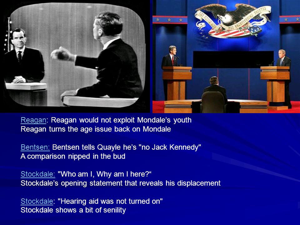 Reagan: Reagan would not exploit Mondale's youth