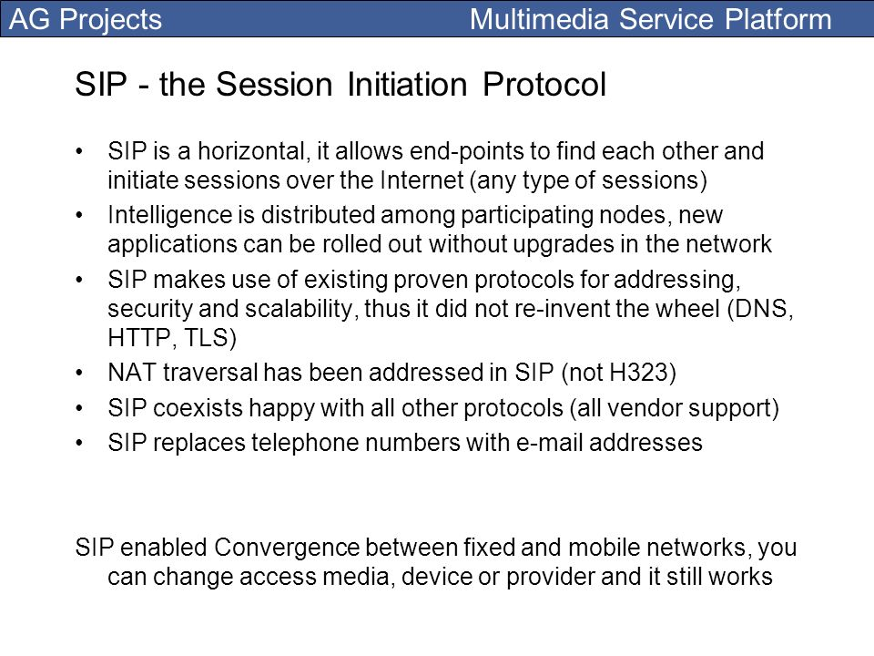 SIP - the Session Initiation Protocol