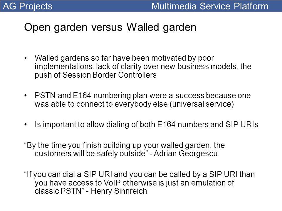 Open garden versus Walled garden