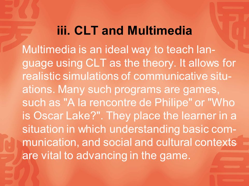 iii. CLT and Multimedia