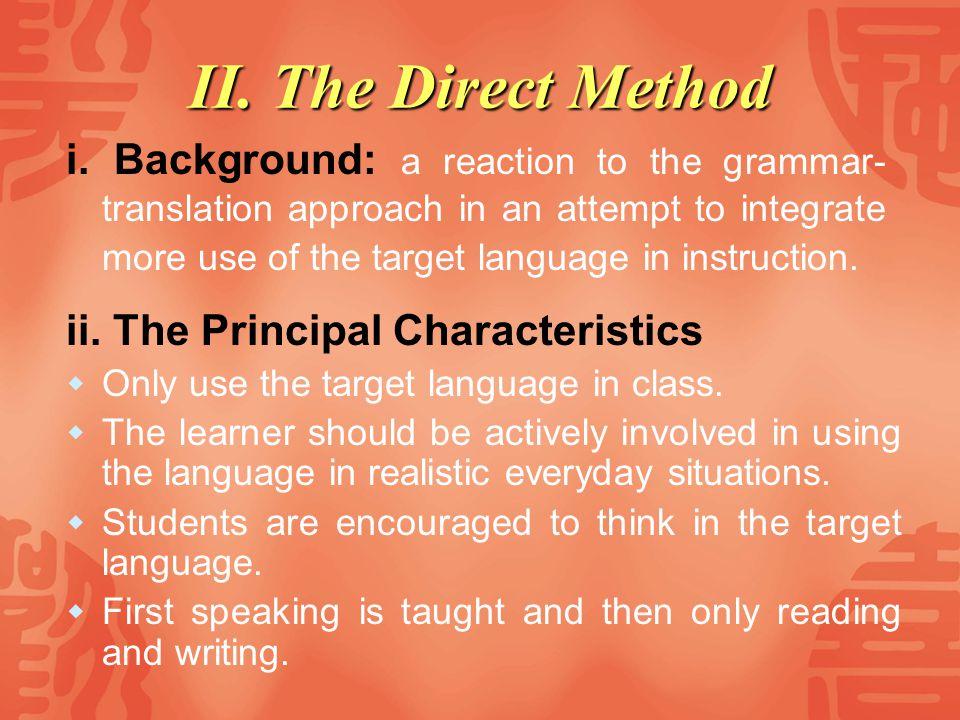 II. The Direct Method