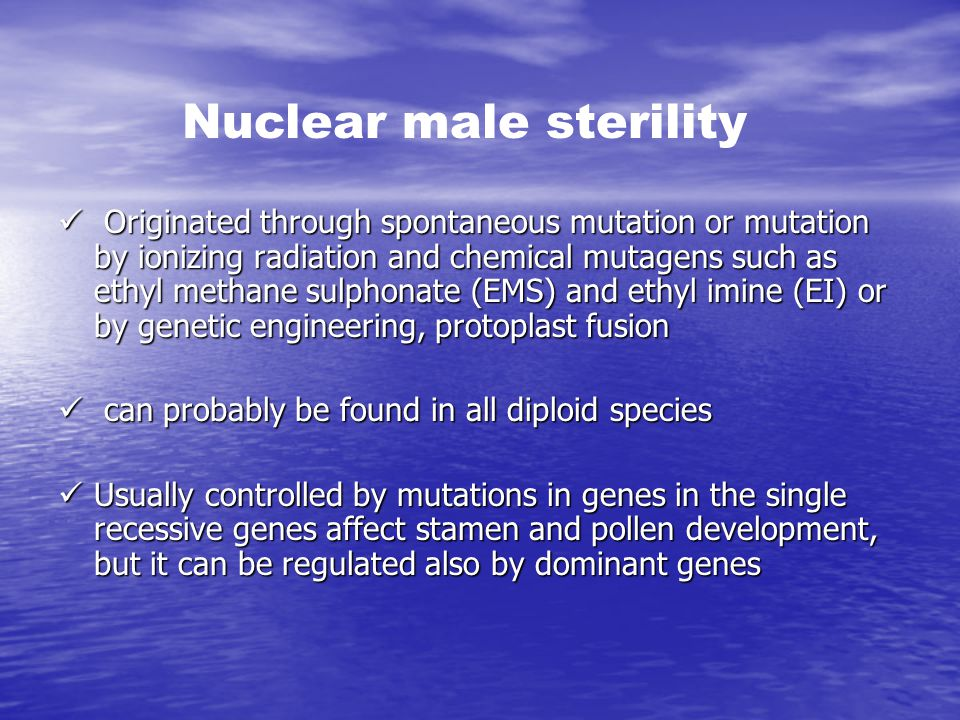 Nuclear male sterility