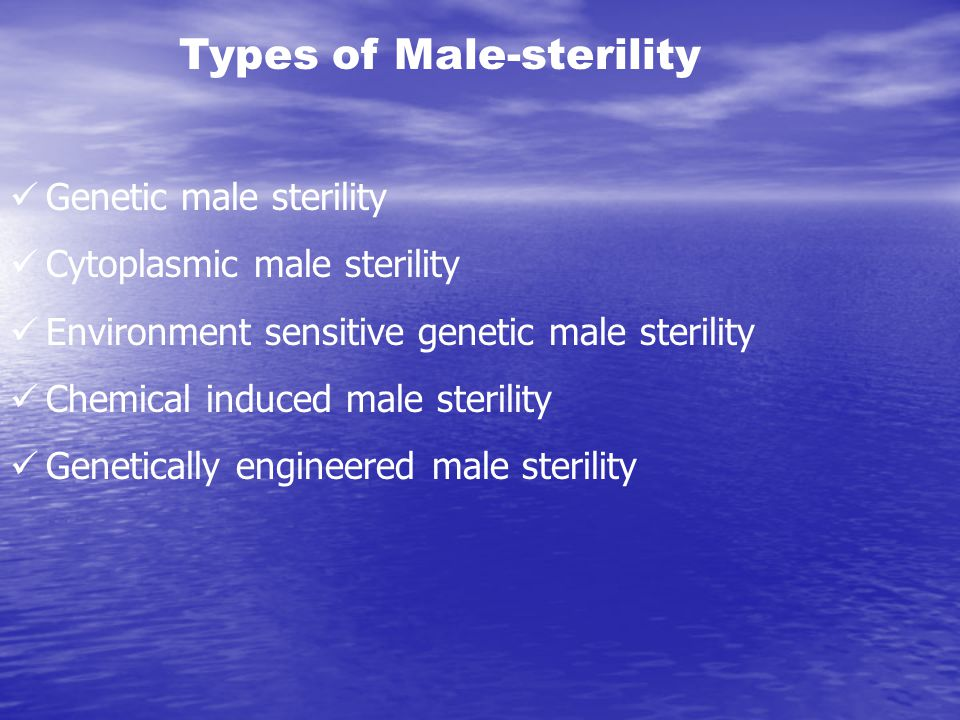 Types of Male-sterility