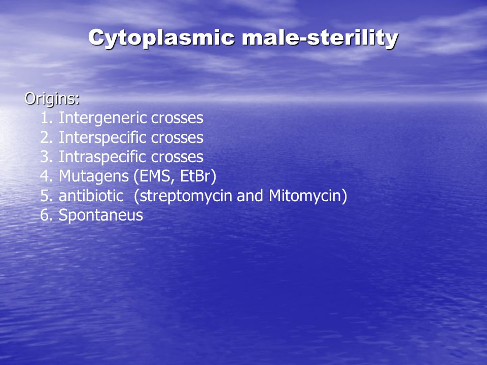 Cytoplasmic male-sterility