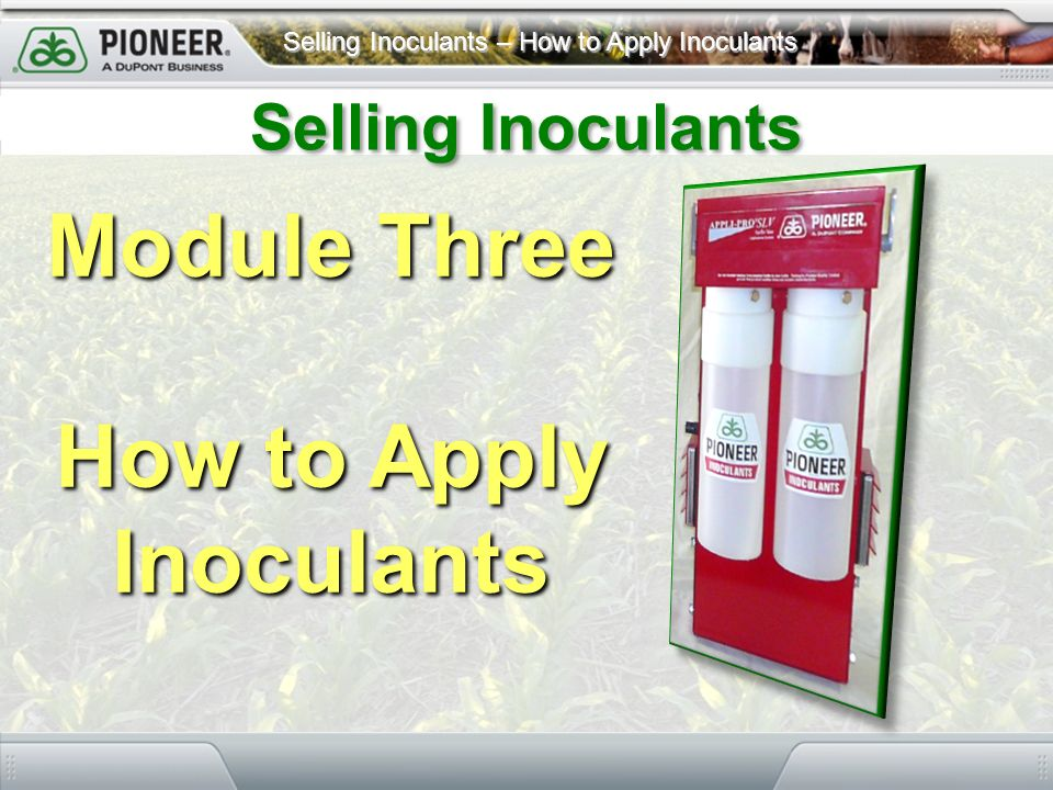 How to Apply Inoculants