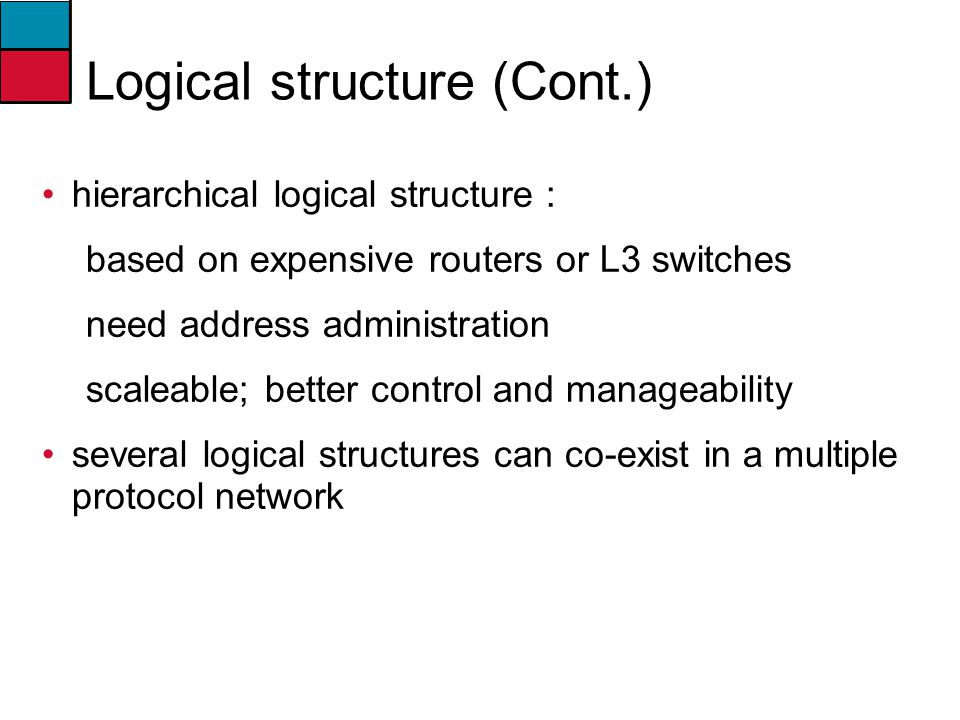 Logical structure (Cont.)