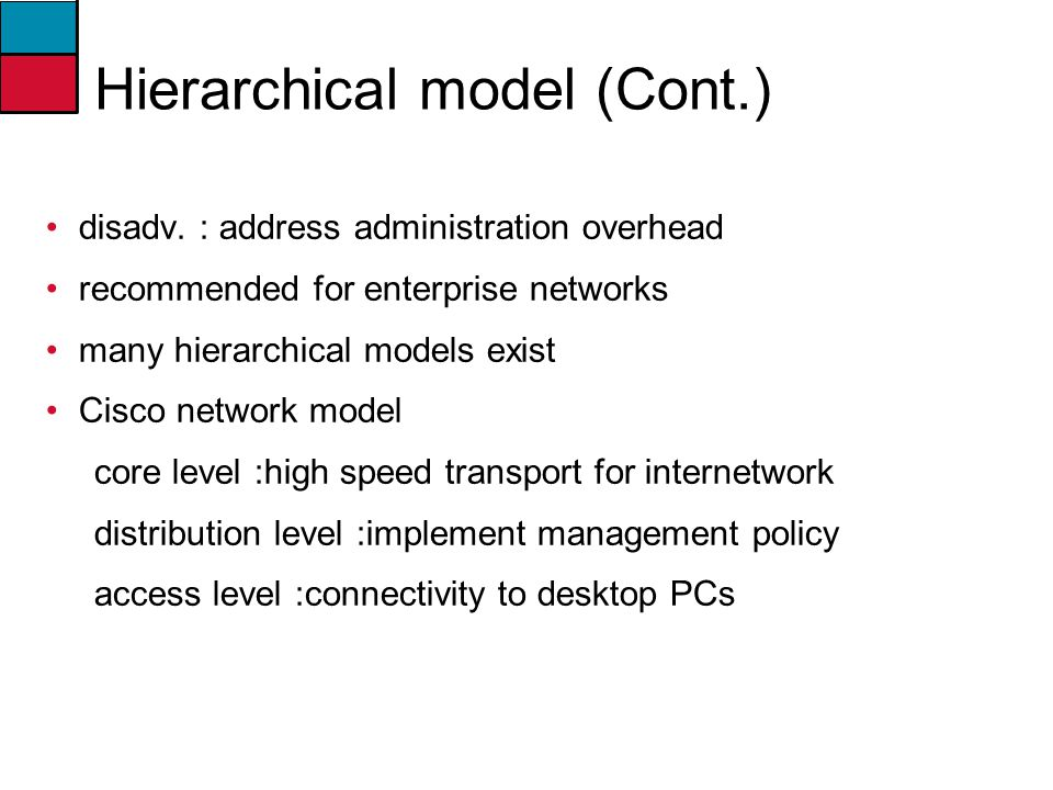 Hierarchical model (Cont.)