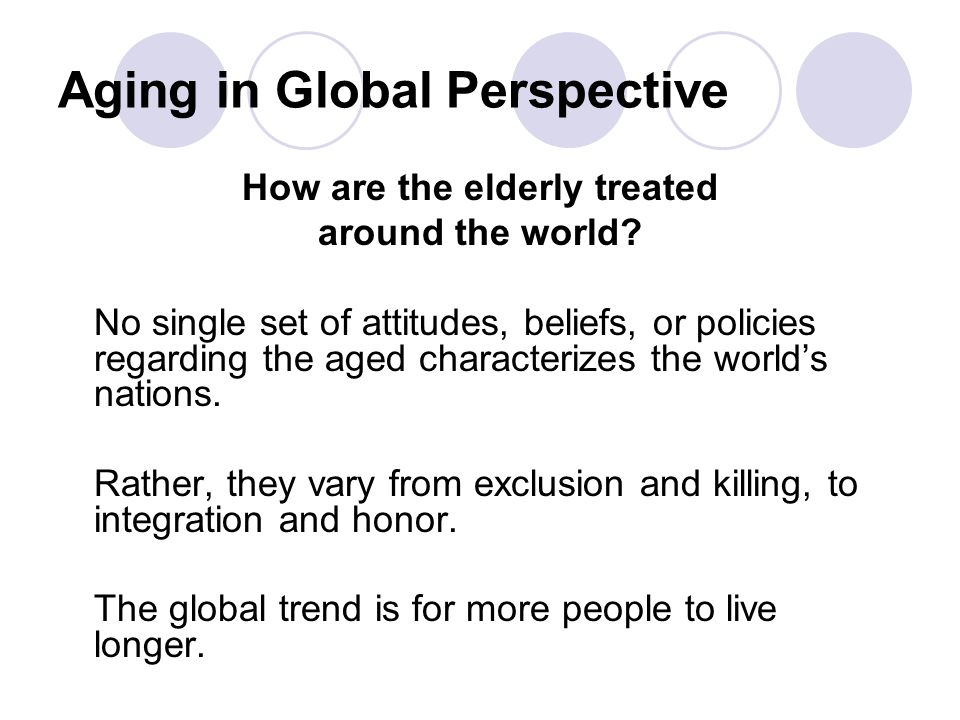 Aging in Global Perspective