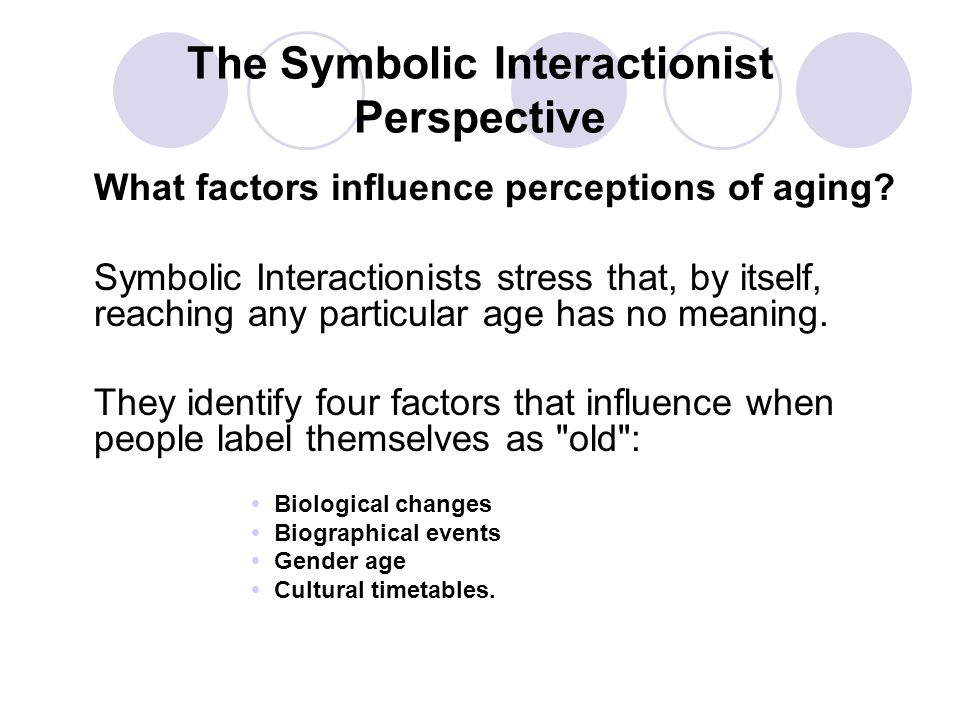 The Symbolic Interactionist Perspective