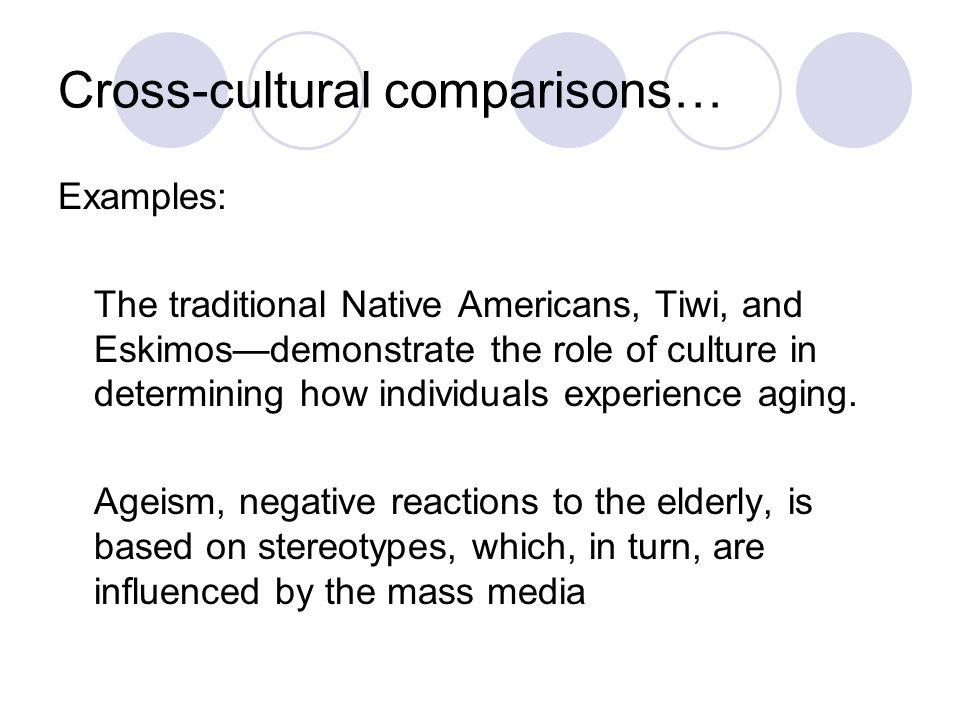 Cross-cultural comparisons…
