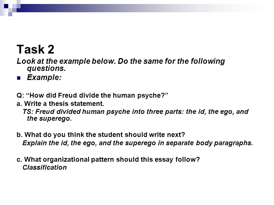 Preparing For An Essay Exam  Ppt Download  Task