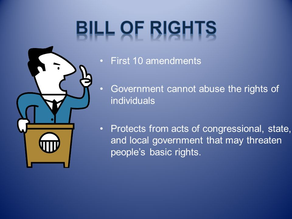 Bill of Rights First 10 amendments
