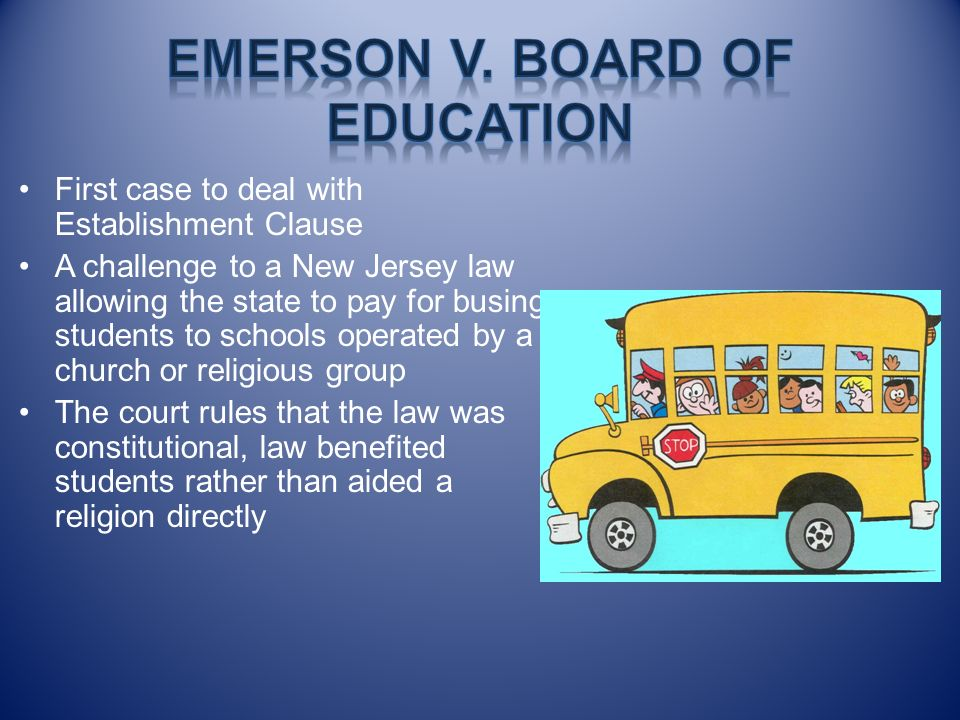 Emerson v. board of Education