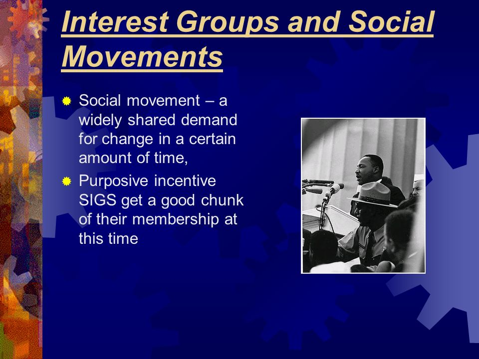 Interest Groups and Social Movements