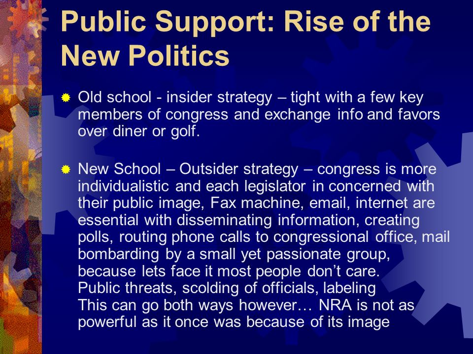Public Support: Rise of the New Politics