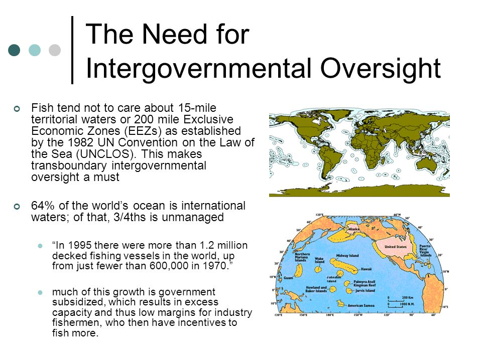 The Need for Intergovernmental Oversight