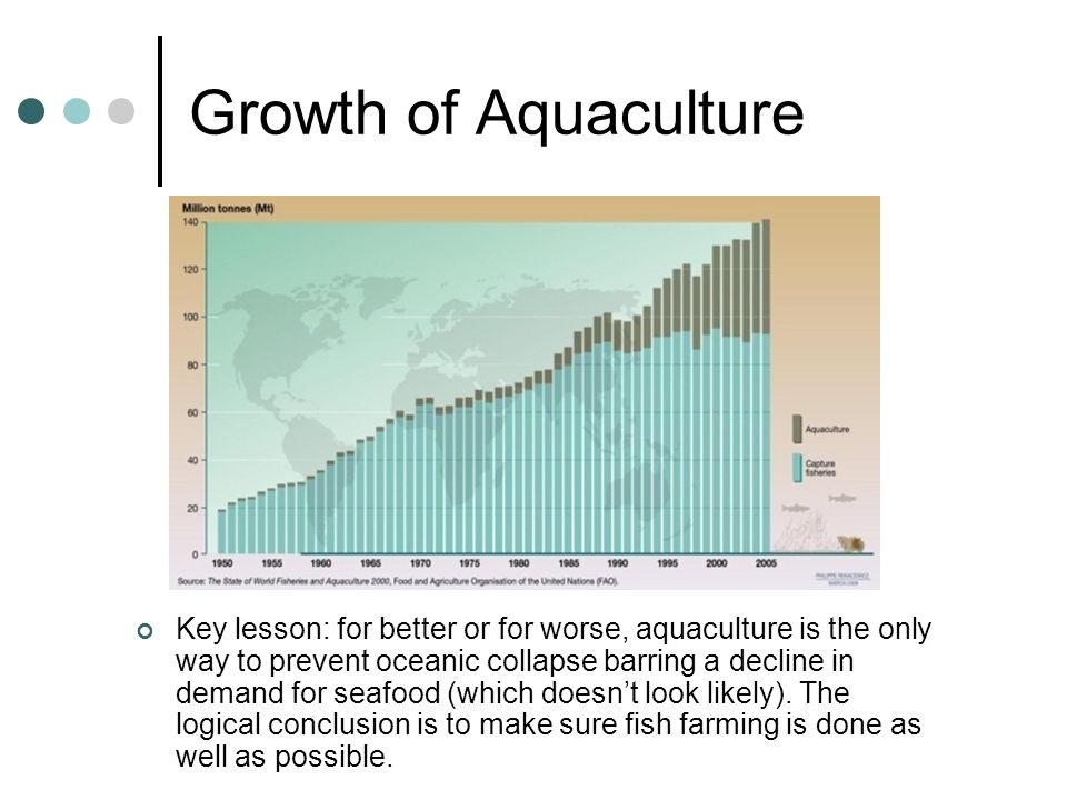 Growth of Aquaculture Image source: http://maps.grida.no/go/graphic/trends-in-capture-fisheries-and-aquaculture.