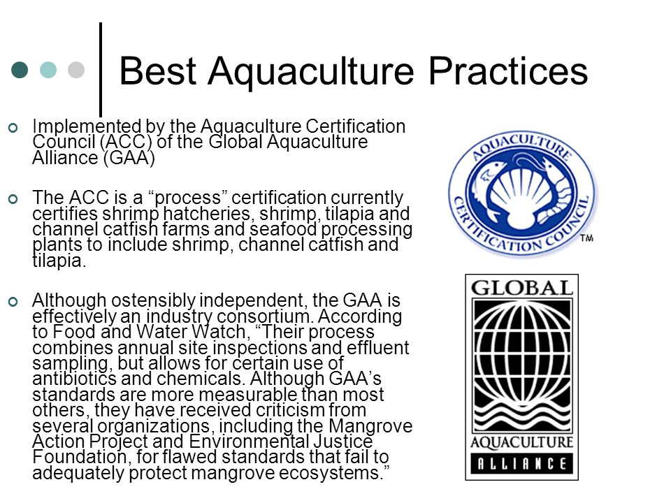 Best Aquaculture Practices