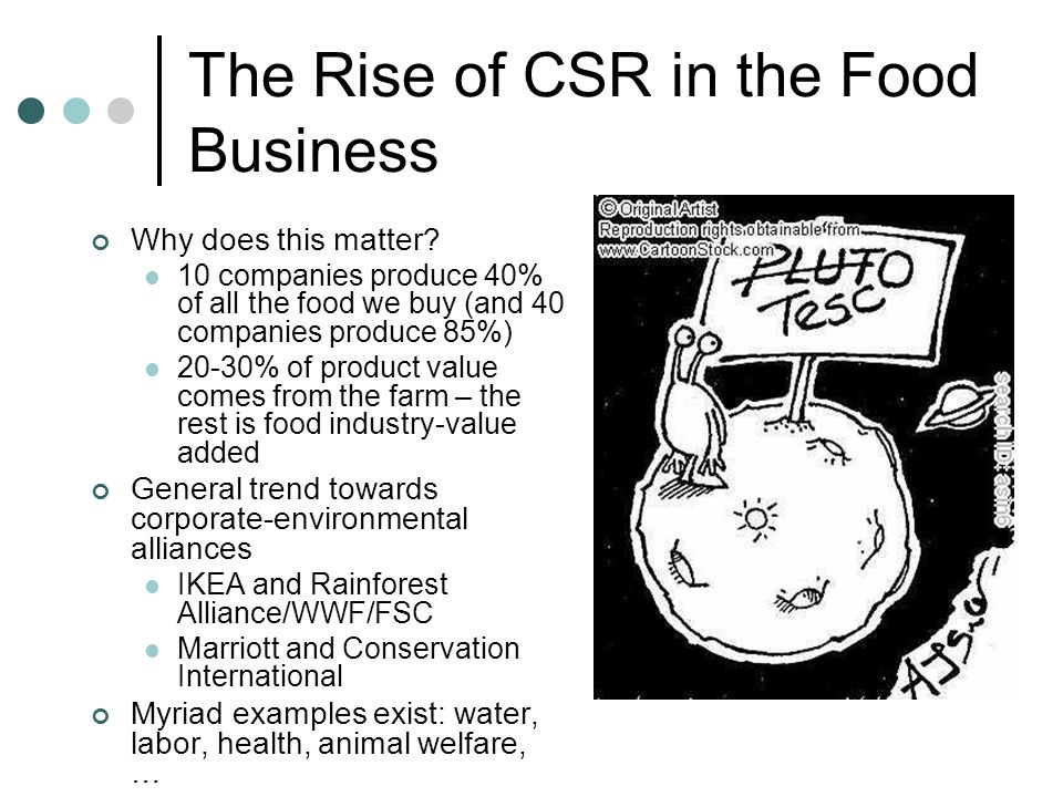 The Rise of CSR in the Food Business