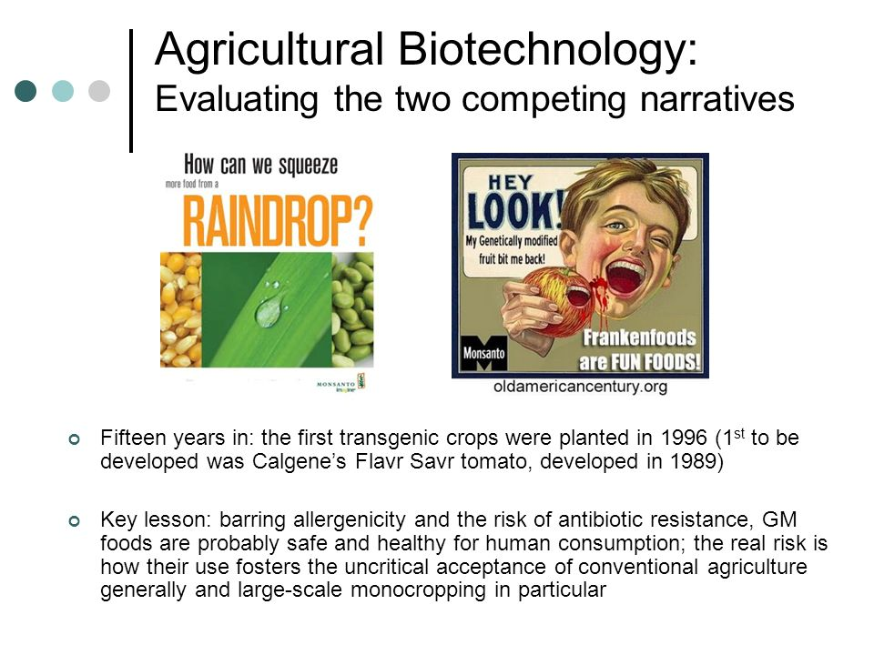 Agricultural Biotechnology: Evaluating the two competing narratives